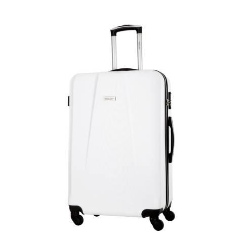 Travel One White Pandara 4 Wheeled Suitcase 56cm