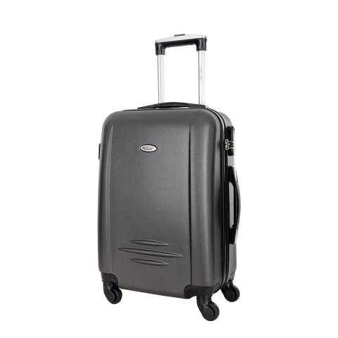 Travel One Grey Burlin 4 Wheeled Suitcase 60cm