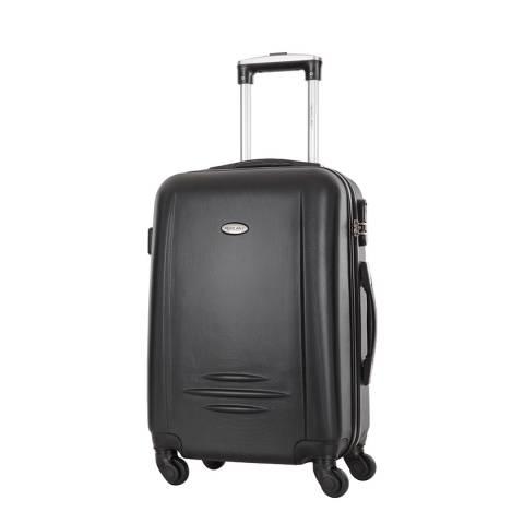 Travel One Black Burlin 4 Wheeled Suitcase 60cm