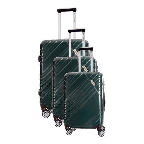 Travel One Green Rosciano Set of Three 8 Wheeled Suitcases 46/56/66cm