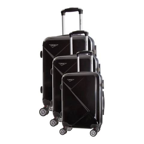Travel One Black Azul Set of Three 8 Wheeled Suitcases 50/60/70cm