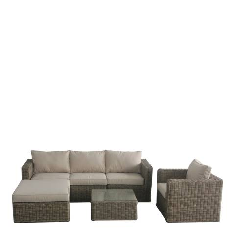 Maze Rattan Winchester Chaise Corner Set with Chair