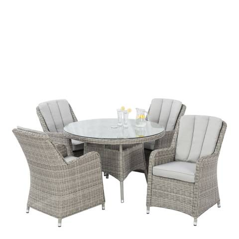 Maze Rattan Oxford 4 Seat Round Dining Set with Venice Chairs