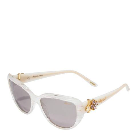 Chopard Women's Marble Opal and Gold Butterfly Sunglasses