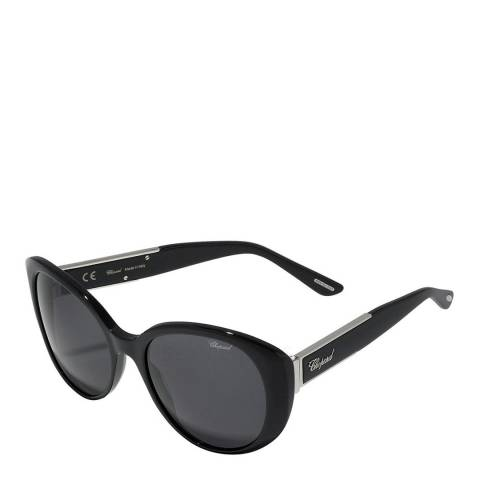 Chopard Women's Black and Grey Sunglasses 19mm