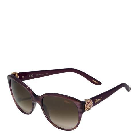 Chopard Women's Violet Striped Sunglasses 57mm