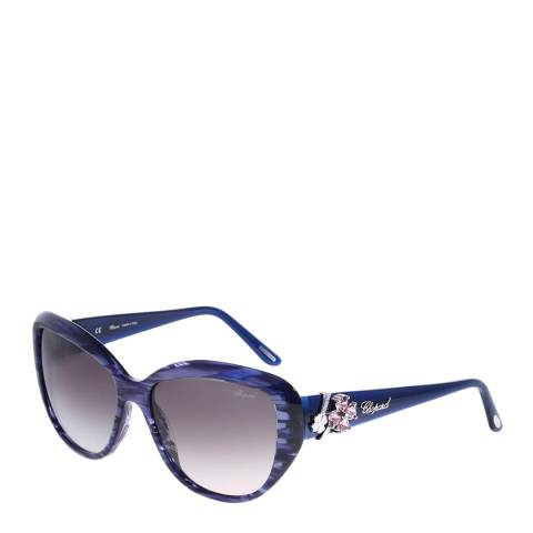 Chopard Women's Blue and Grey Sunglasses