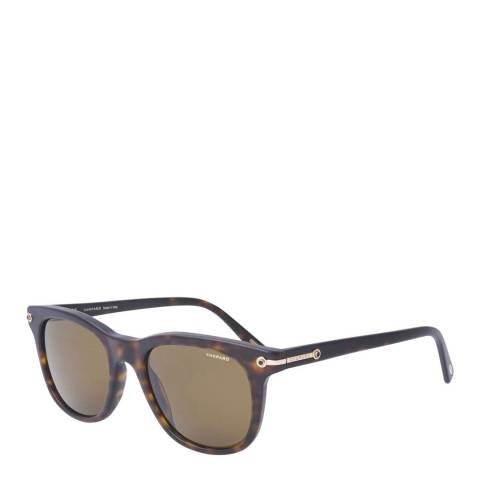 Chopard Women's Matte Havana and Gold Copper Sunglasses