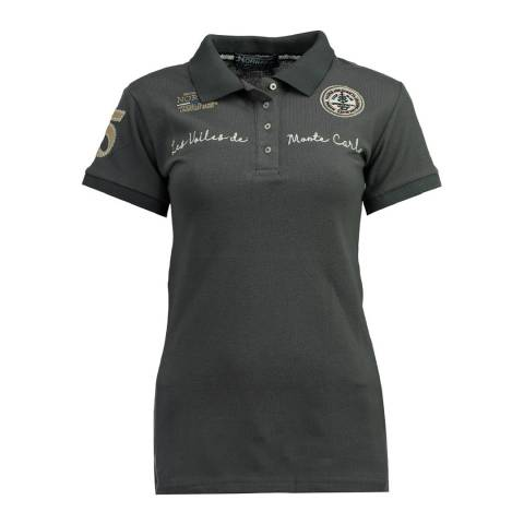 Geographical Norway  Dark Grey Kamour Short Sleeve Polo