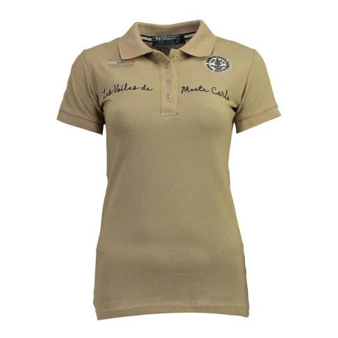 Geographical Norway  Beige Kamour Short Sleeve Polo