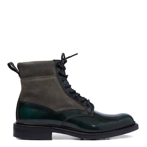 Joseph Cheaney & Sons Green Leather/Suede Livingstone Military Boots