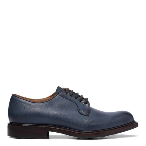 Joseph Cheaney & Sons Navy Storm Leather Teign Aviator Derby Shoes