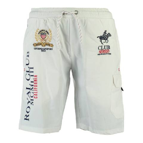 Geographical Norway White Qiwi Cotton Swim Shorts