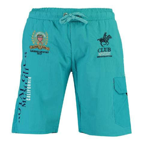 Geographical Norway Turquoise Qiwi Cotton Swim Shorts