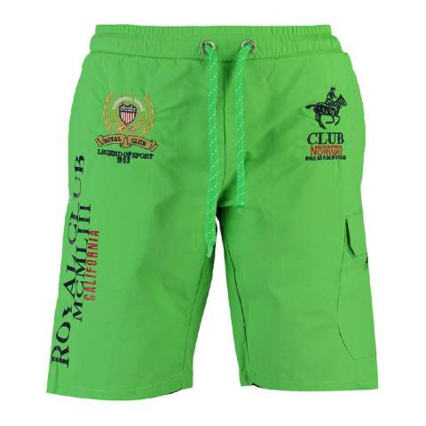 Geographical Norway Green Qiwi Cotton Swim Shorts