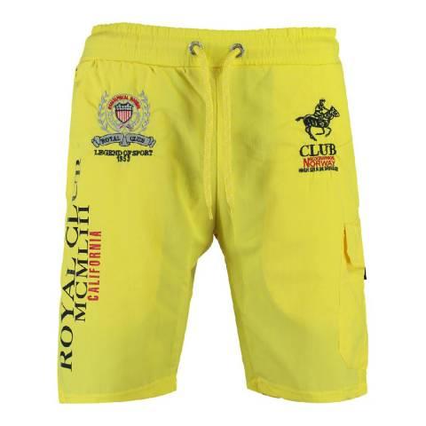Geographical Norway Yellow Qiwi Cotton Swim Shorts
