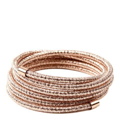 Amrita Singh Rose-tone Brass Lurex Coiled Bracelet