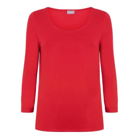 Jaeger Red Stretch Jersey Top