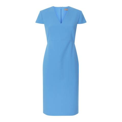 Jaeger Blue Fitted Dress