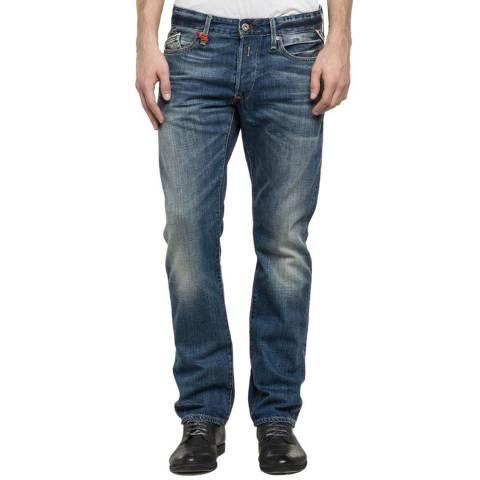 Blue Denim Waitom Regular Slim Jeans - BrandAlley 60b99e21334