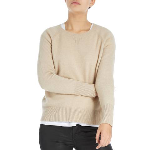 Laycuna London Organic Brown Grey Nadine Cashmere Sweater