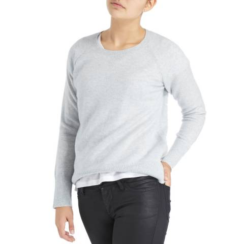 Laycuna London Light Grey Nadine Cashmere Sweater