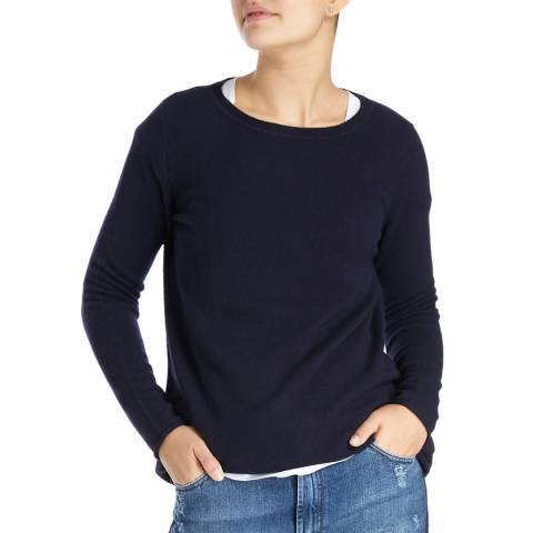 Laycuna London Navy Sarah Swing Cashmere Jumper