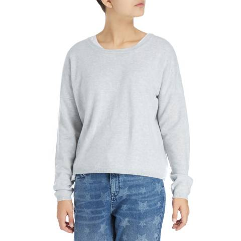 Laycuna London Light Grey DD Scoop Cashmere Jumper