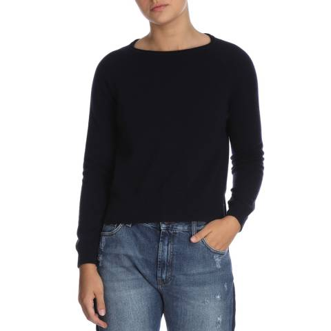 Laycuna London Navy Hope Cashmere Jumper