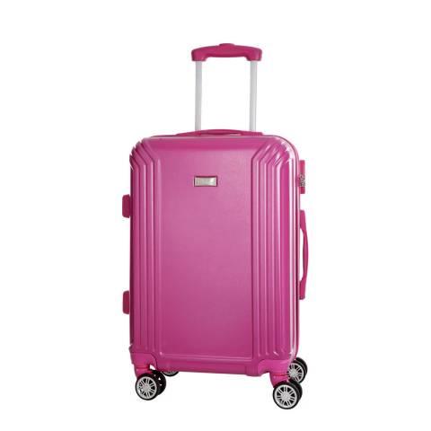 Platinium Fuchsia Kirwee 8 Wheeled Suitcase 60cm