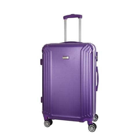 Platinium Violet Kirwee 8 Wheeled Suitcase 56cm