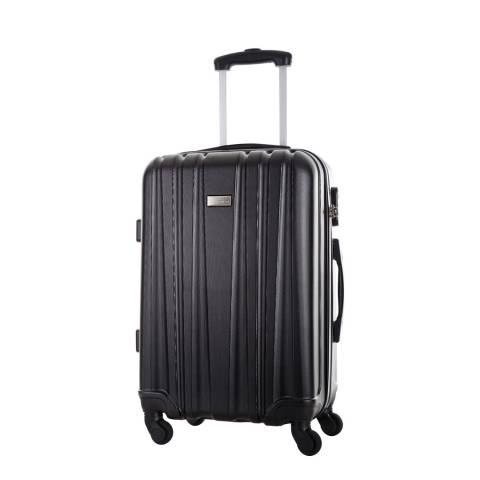 Platinium Black Akina  4 Wheeled Suitcase 56cm