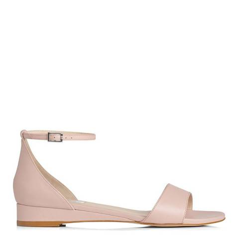 L K Bennett Marshmallow Pink Leather Cai Sandals