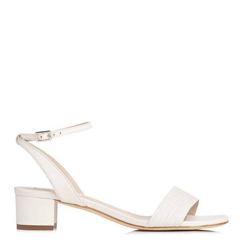 L K Bennett Cream Leather Charline Sandals