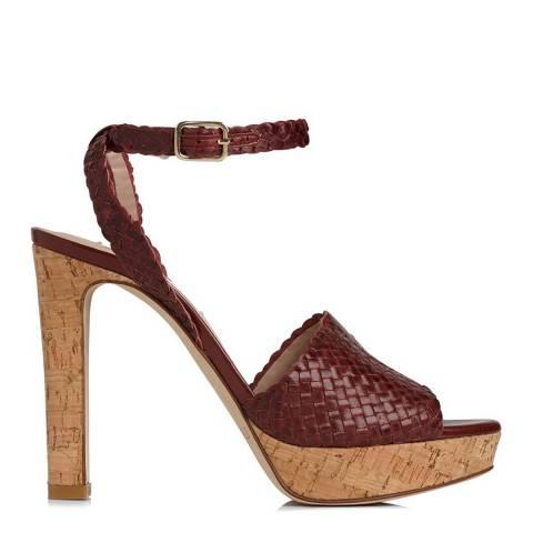 L K Bennett Damson Weaved Leather Margot Platform Sandals