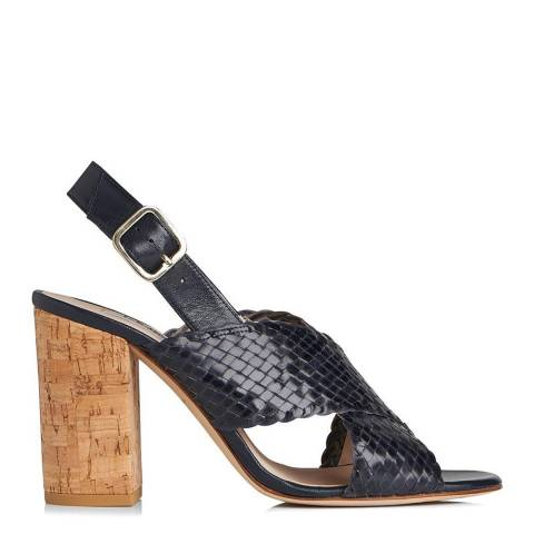 L K Bennett Nightshadow Weaved Leather Mel Slingback Sandals