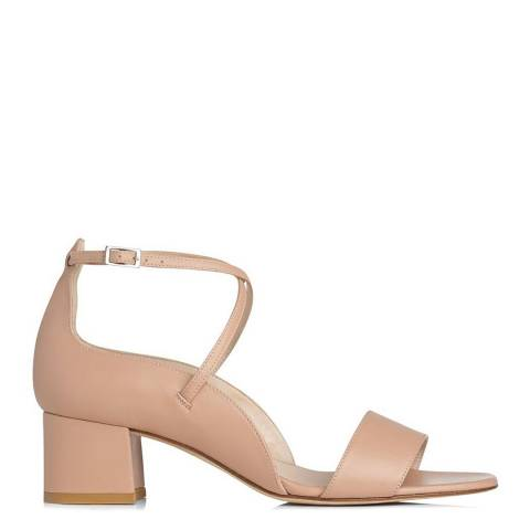 L K Bennett Nude Leather Dina Scalloped Sandals