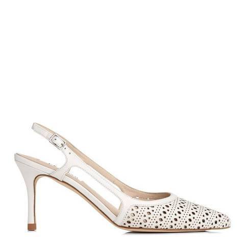 L K Bennett Cream Leather Mitzi Slingback Courts