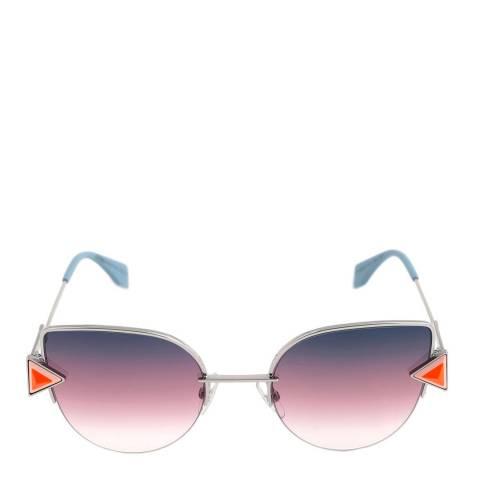 Fendi Women's Silver/Blue Rainbow Sunglasses 52 mm