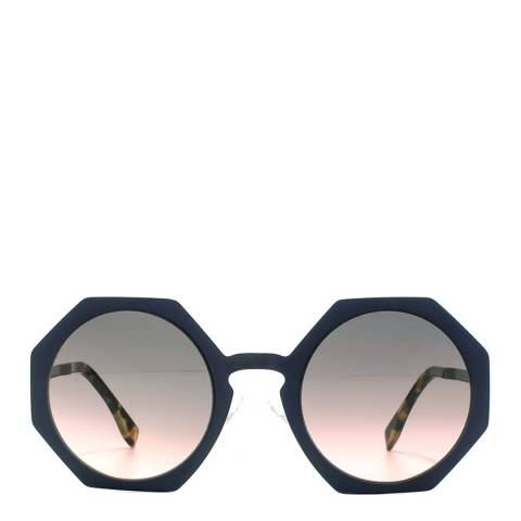 Fendi Women's Matte Blue Facets Sunglasses 51 mm