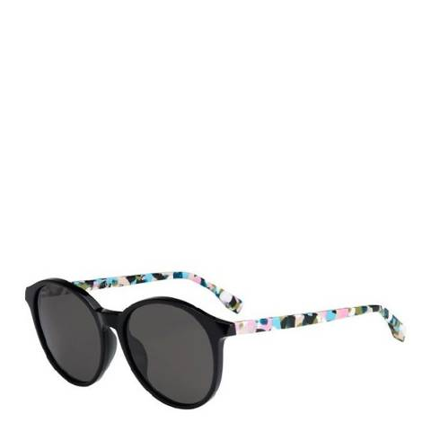 Fendi Women's Black/Multi Coloured Sunglasses 56 mm