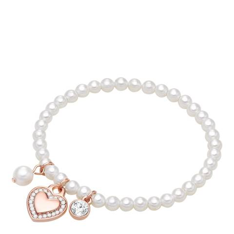 Pearls of London White/Rose Gold Shell Pearl Bracelet