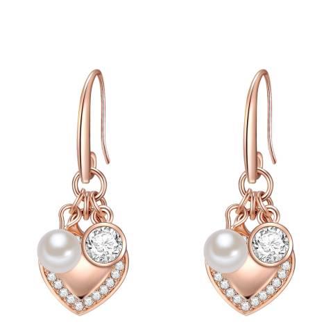 Perldesse Rose Gold Pearl Drop Earrings 6mm