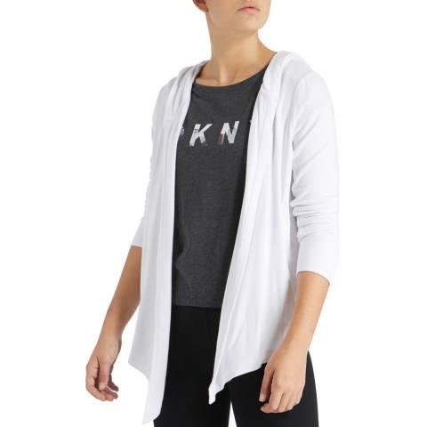 DKNY White Mesh Elas Jacket