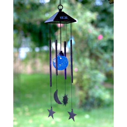 Smart Solar Sun Moon & Star Windchime Solar Light