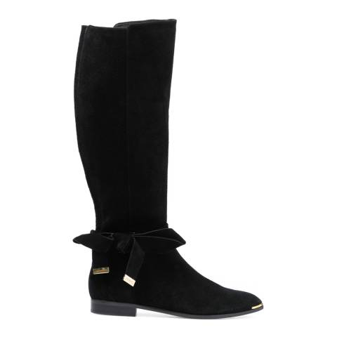 Ted Baker Black Suede Alrami Knee High Boots
