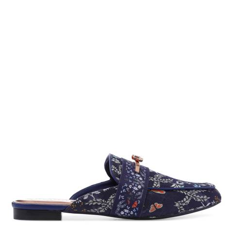 Ted Baker Navy Printed Jacquard Loafer