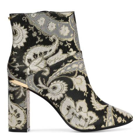 Ted Baker Black/Gold Ishbel Ornate Paisley Ankle Boots
