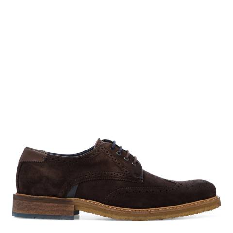 Ted Baker Brown Suede Prycce Brogue Derby Shoes