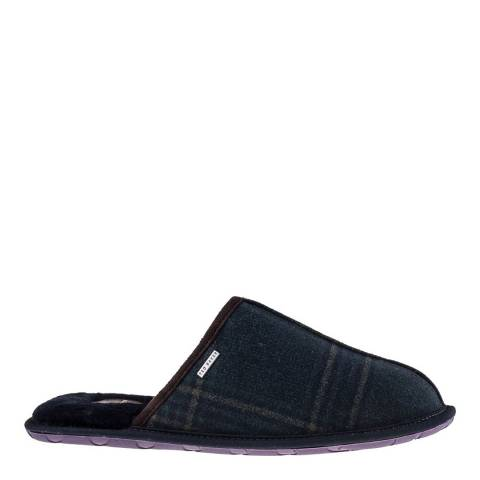 Ted Baker Dark Blue Suede Youngi Mule Slippers